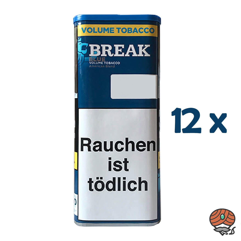 12x Break Blue / Blau Volumentabak / Tabak XXL Dose à 115g