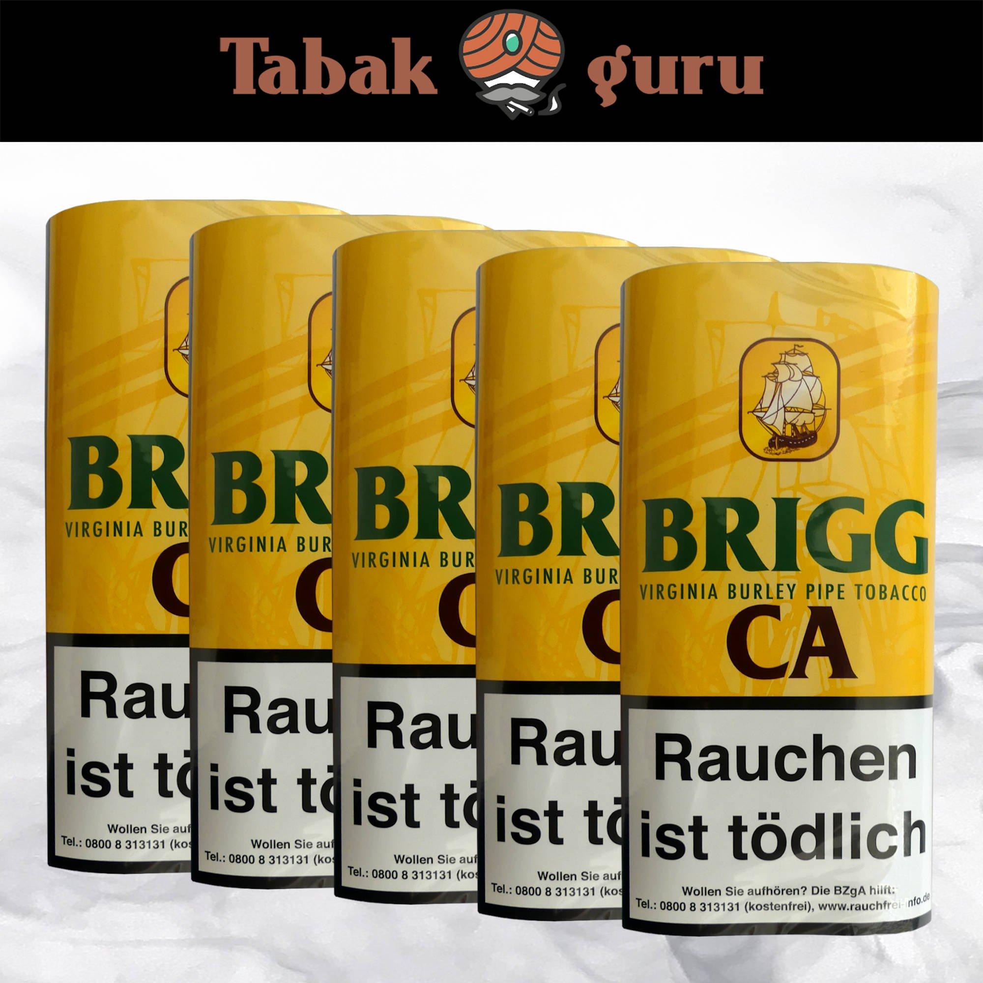 5 x Brigg CA Pouch Pfeifentabak 40 g mit Coco Ananas Aroma