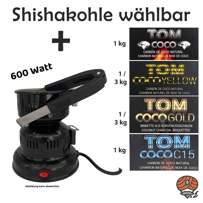 Elektrischer Kohleanzünder 600 Watt + Coco Kohle wählbar