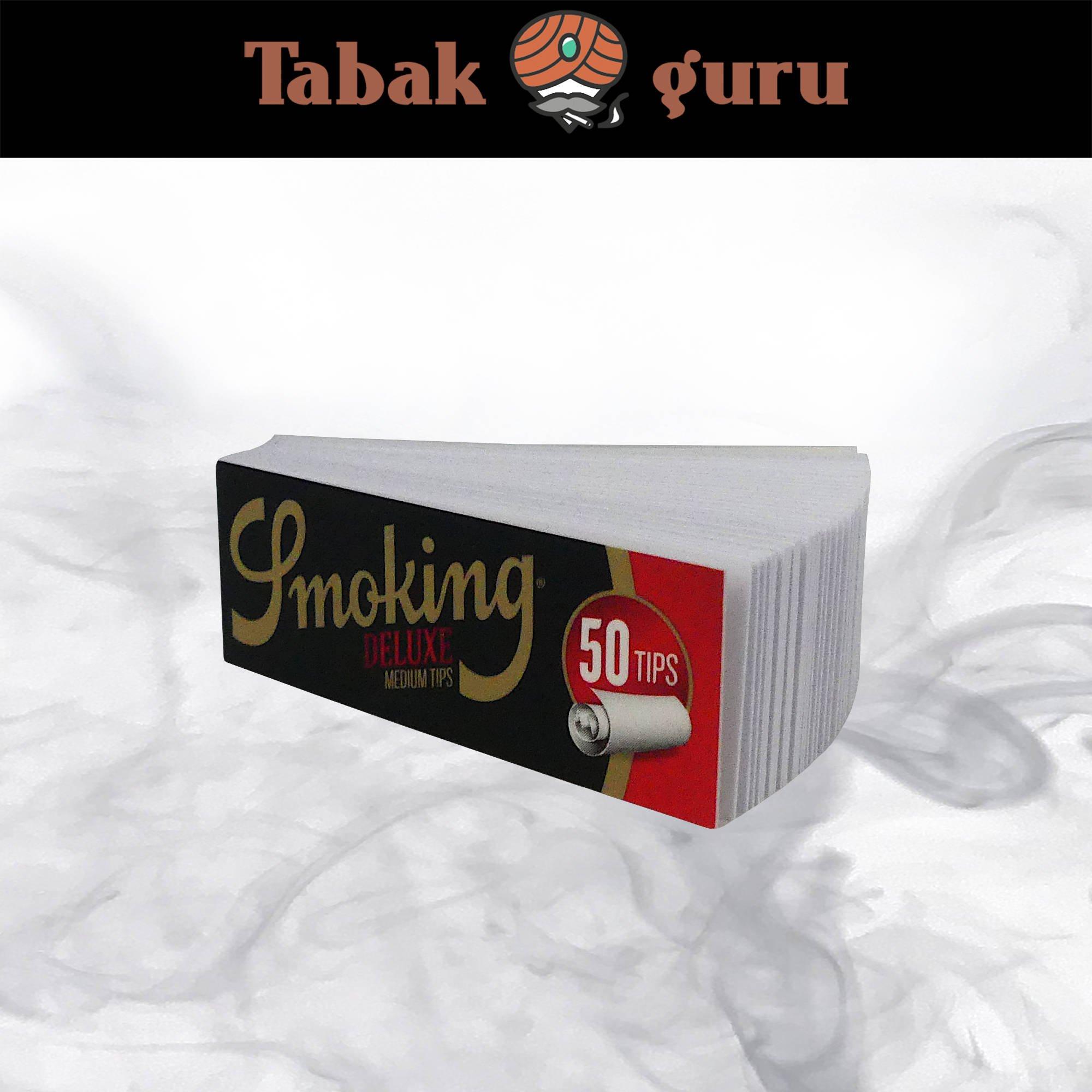 Smoking Medium Size Deluxe Filter Tips á 50 Tips