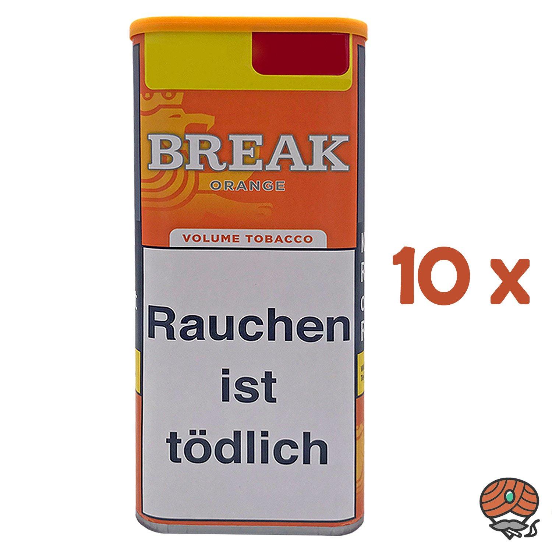 10x Break Orange Volumentabak / Tabak XXL Dose à 110g