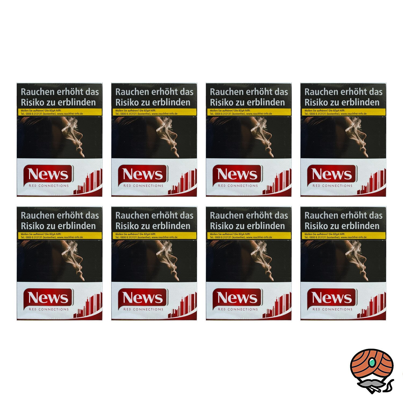 1 Stange NEWS Red Connections Filterzigaretten, 8 x 25 Stück