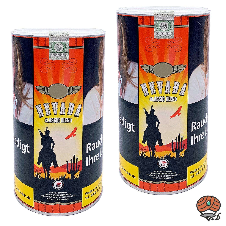 2 x Nevada Classic Blend à 400g Feinschnitttabak / Zigarettentabak