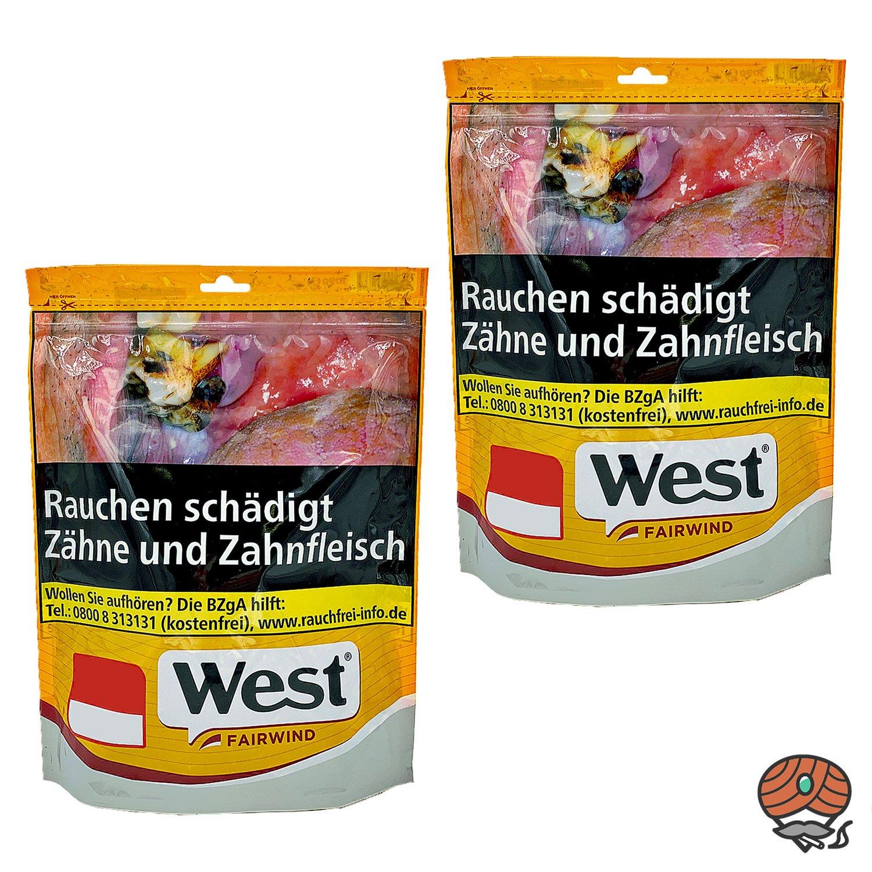 2 x West Yellow Giga Tabak Beutel à 92 g Stopftabak / Volumentabak