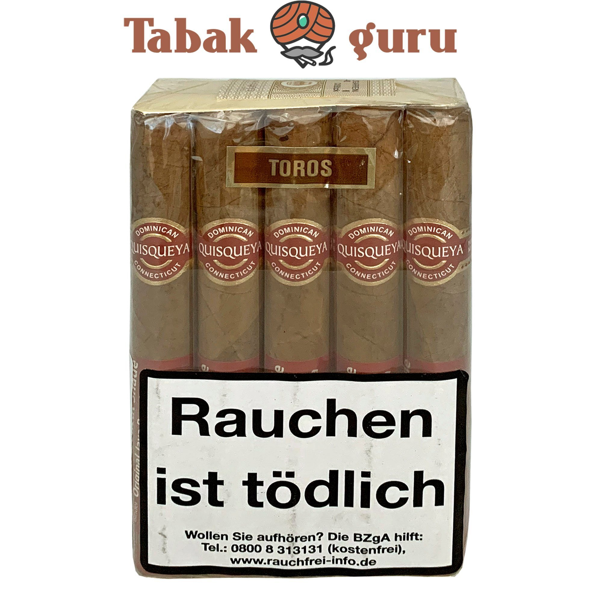 10 Quisqueya Connecticut Zigarren im Toro Format