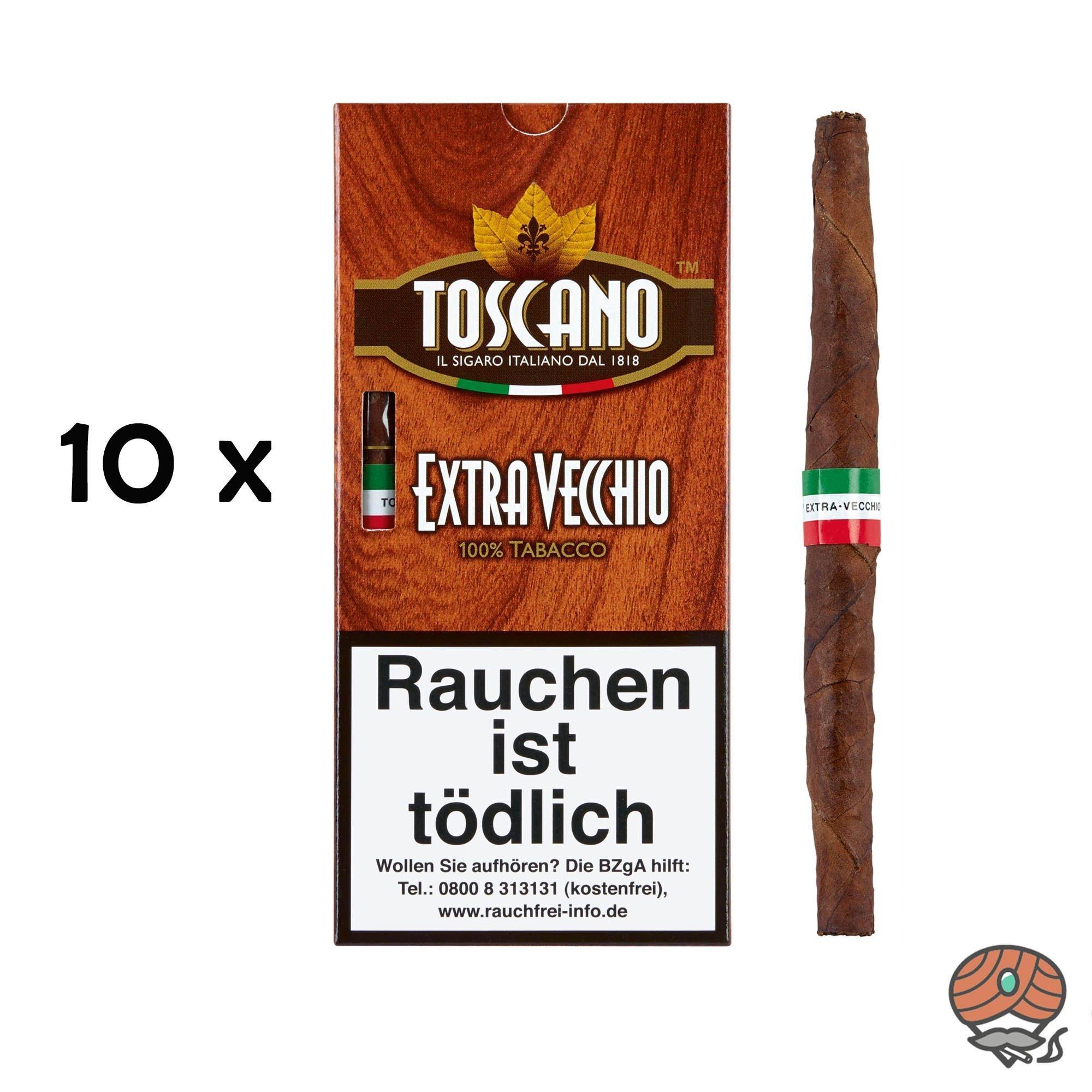 10 x Toscano Extra Vecchio 100% Tabacco Zigarren á 5 Stück