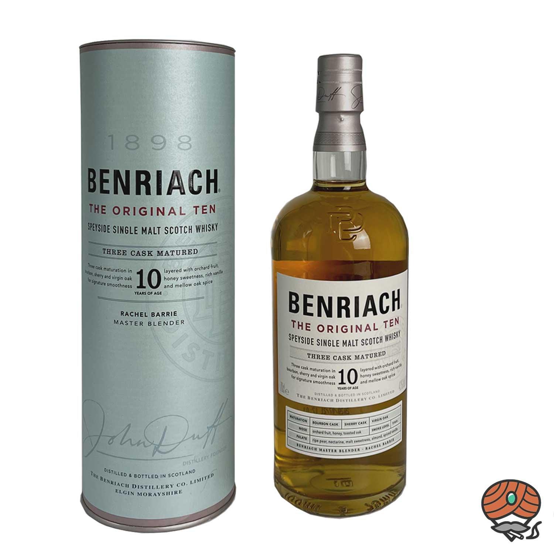 BenRiach 10 Jahre alter Single Malt Whiskey Speyside 0,7l, alc. 43 Vol.-%