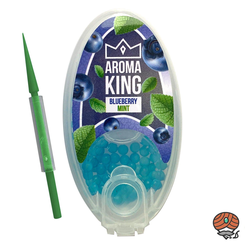 Aroma King Aromakapseln für Filterzigaretten - BLUEBERRY MINT Dose à 100 Kapseln