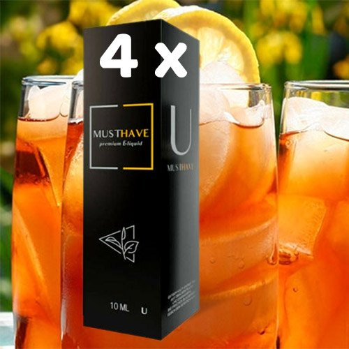 4 x MUSTHAVE U 10 ml Aroma + Leerflasche, Longfill