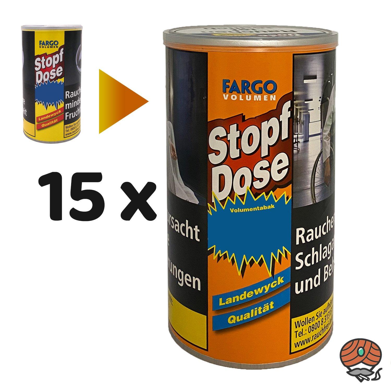 15 x Fargo VOLUMEN Stopf-Dose 100g Volumentabak (ehem. GELB)