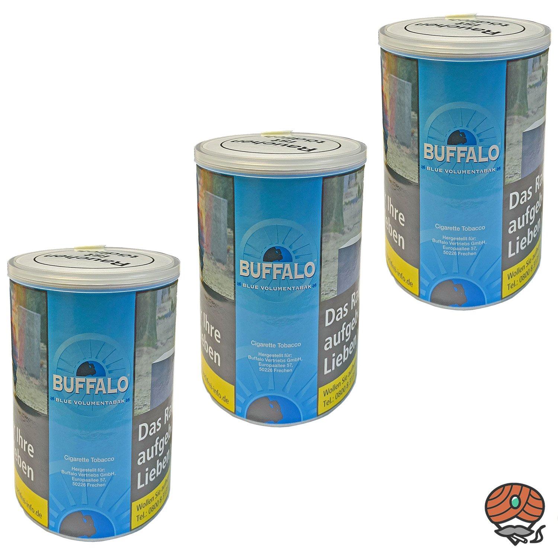 3x Buffalo Blue / Blau Volumentabak Dose à 75g