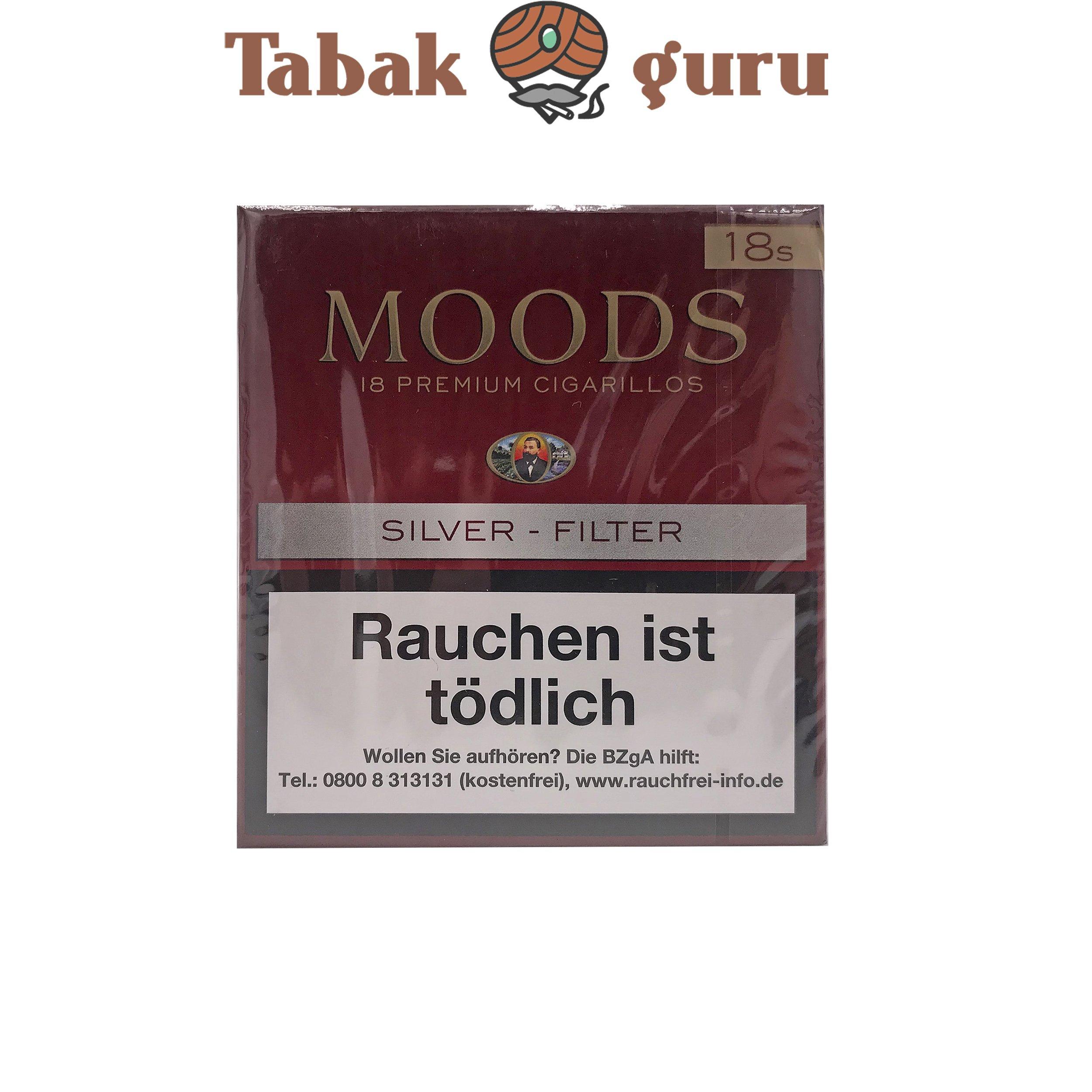 Moods Silver Filterzigarillos a 18 Stück
