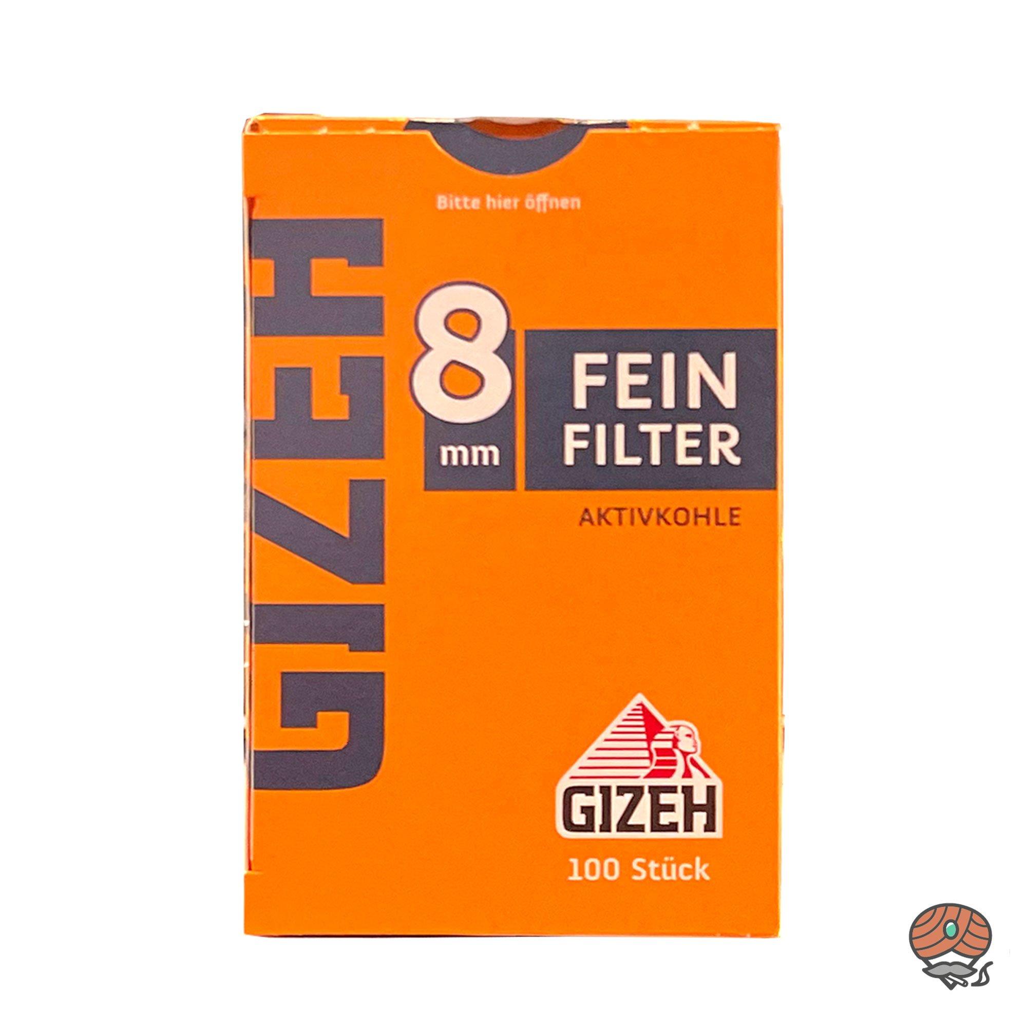 Gizeh Feinfilter Aktivkohle 8 mm 1 Schachtel à 100 Feinfilter