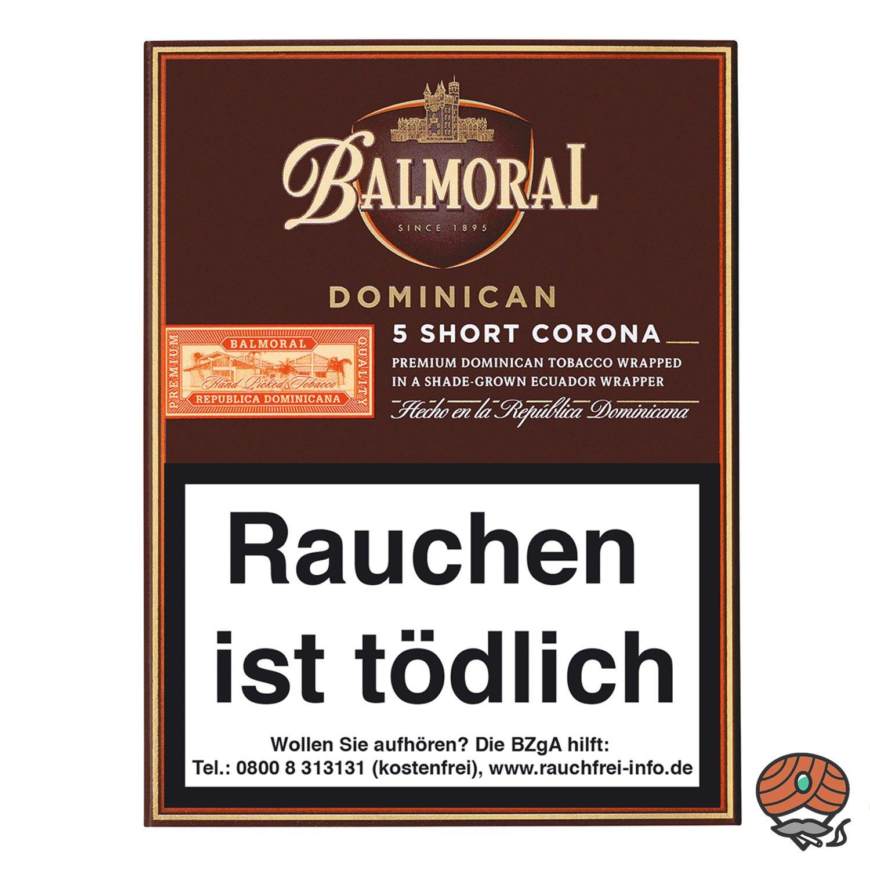 Balmoral Dominican Selection Short Corona Zigarren, 5 Stück