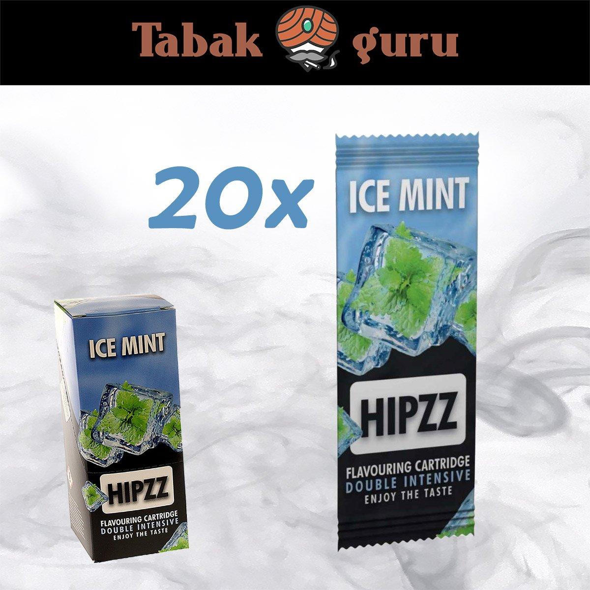 20 x Aromakarte HIPZZ (wie Rizla)  ICE MINT - Aroma für Tabak