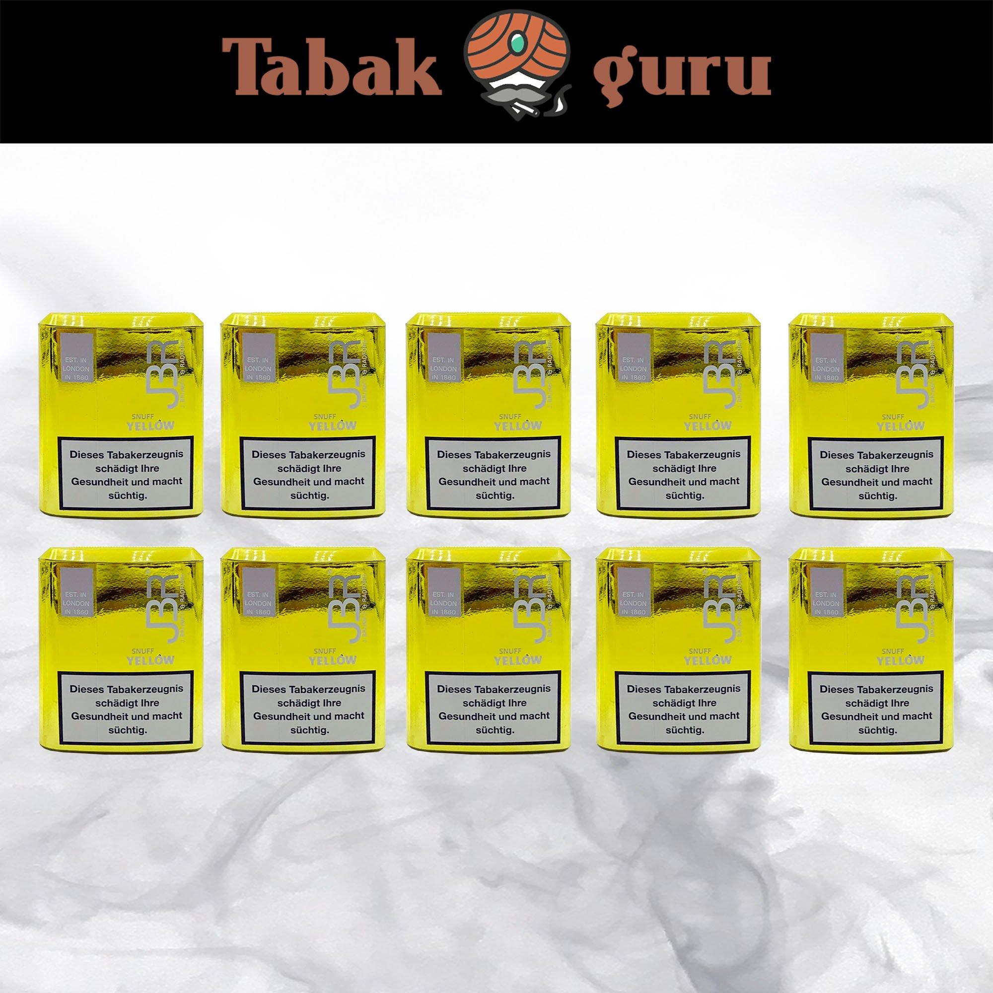JBR Yellow Snuff Schnupftabak von Pöschl 10x10g Dosen