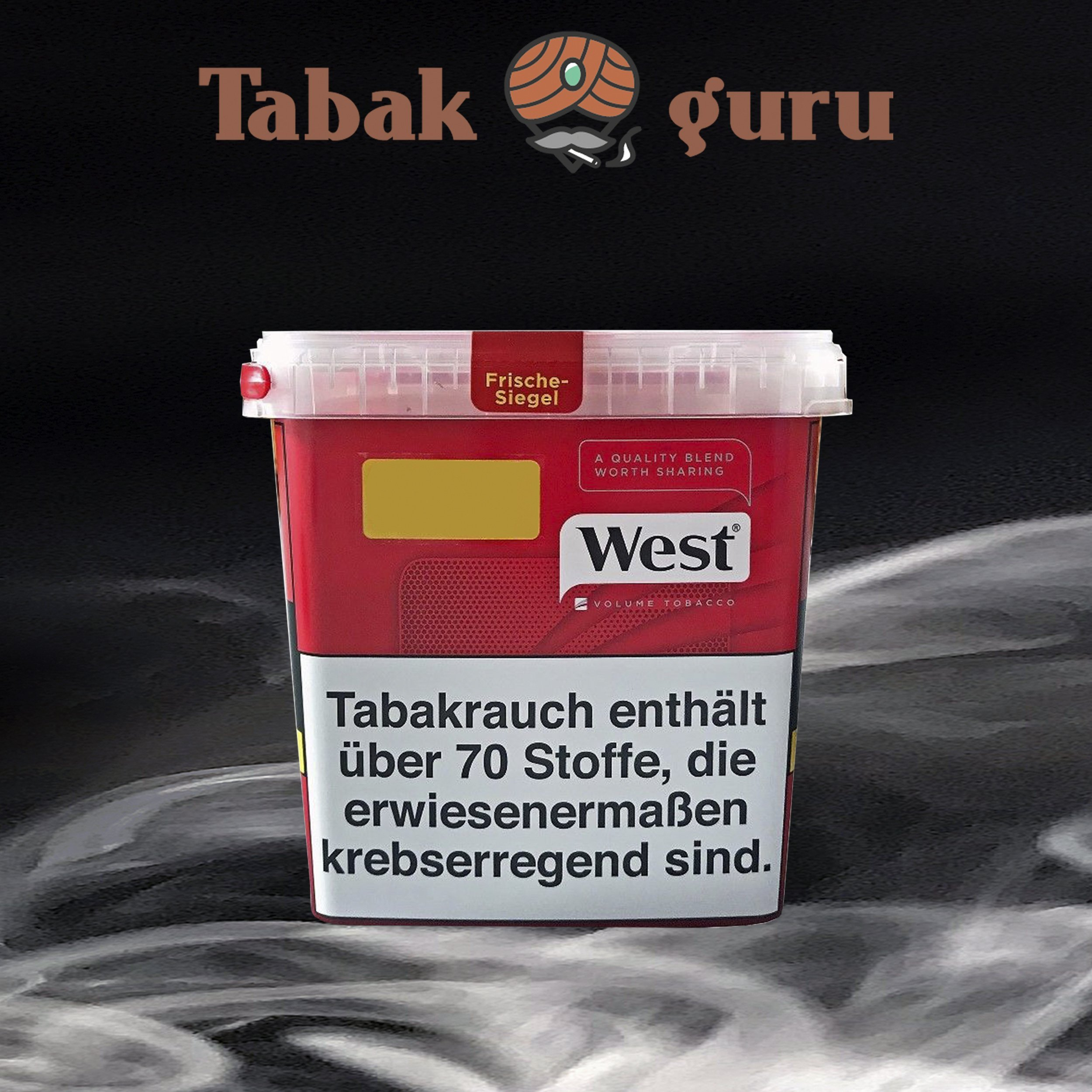 West Red / Rot Mega Box Volumentabak 280 g