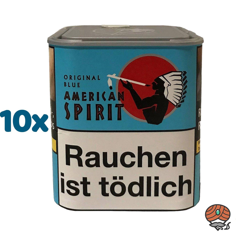 10 x American Spirit Original Blue / Blau Tabak 80 g Dose