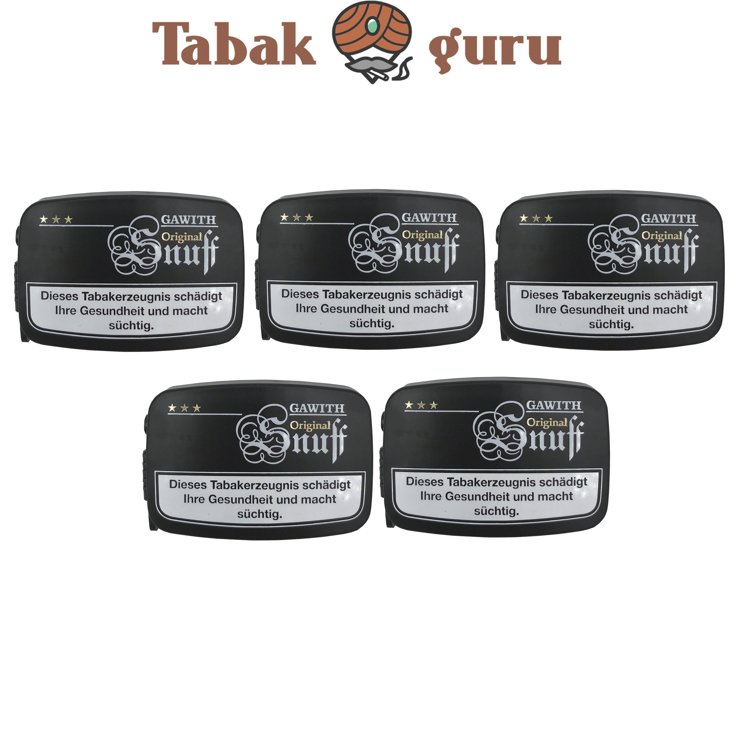 Gawith Original Snuff Schnupftabak 5 Dosen á 10 g