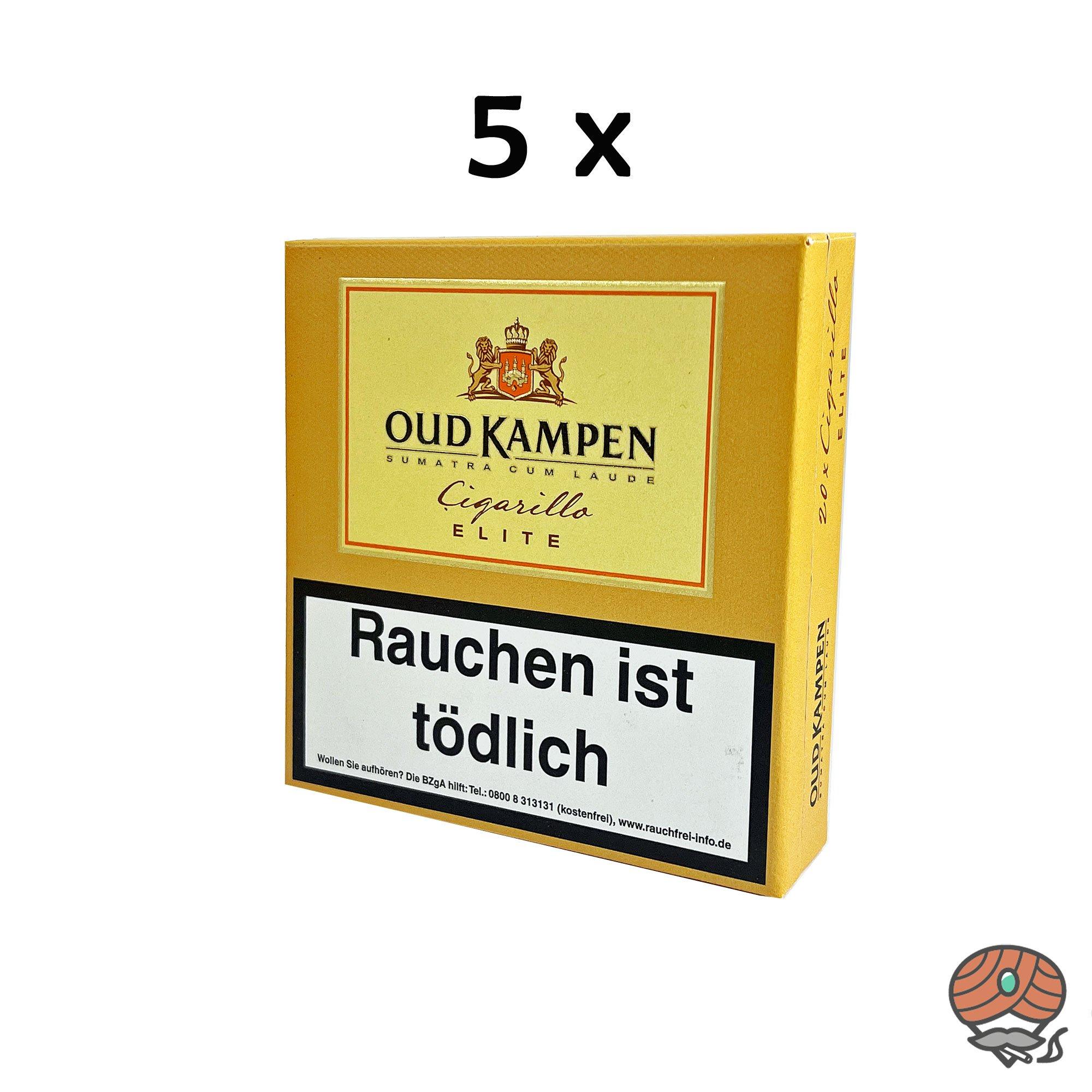 5x Oud Kampen Elite Zigarillos Sumatra Cum Laude 100% Tabak