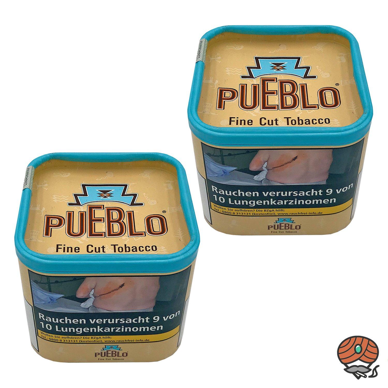 2x Pueblo Classic Feinschnitt Drehtabak Dose á 100g Tabak ohne Zusatzstoffe