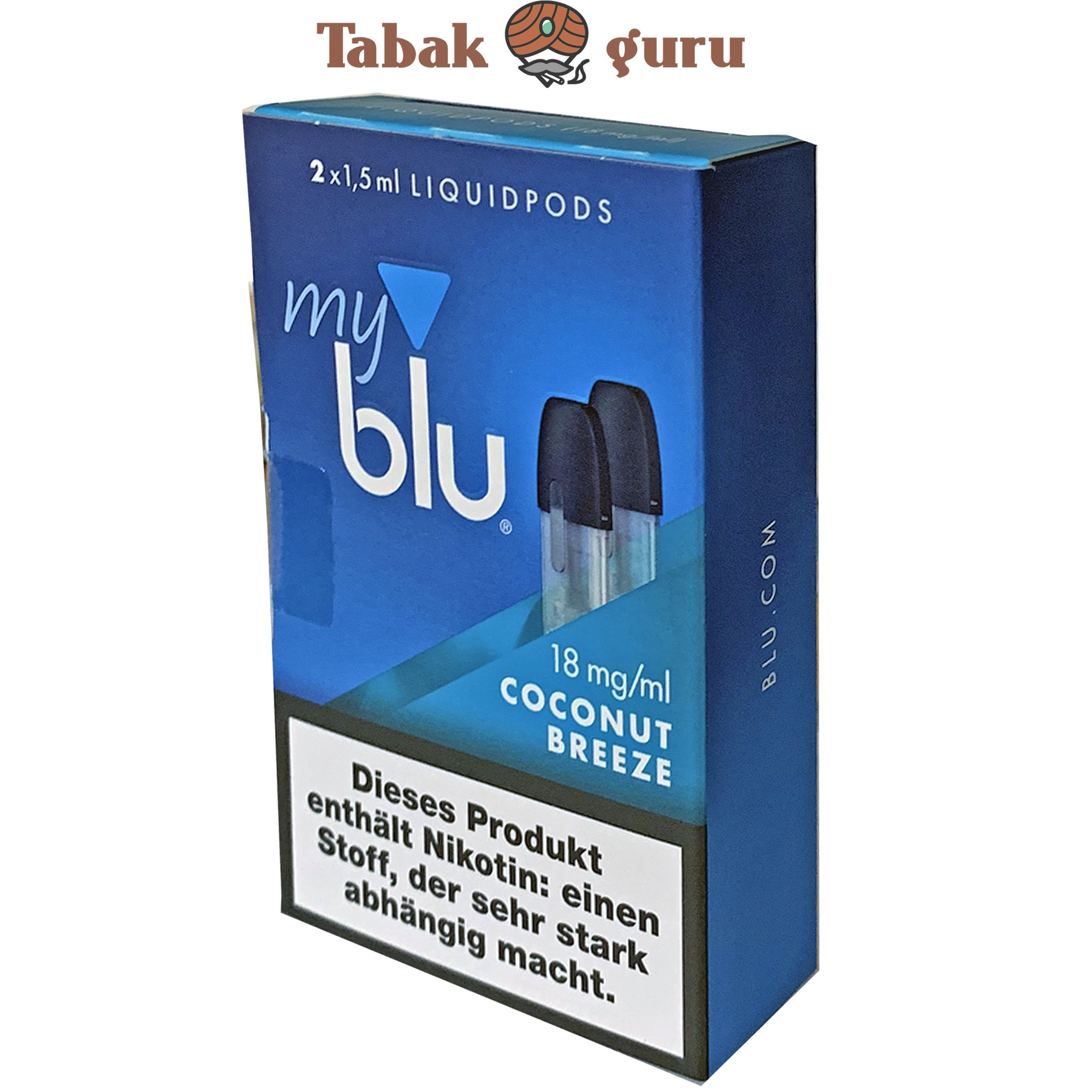 myblu Liquid Pods Coconut Breeze 18 mg/ml Nikotin