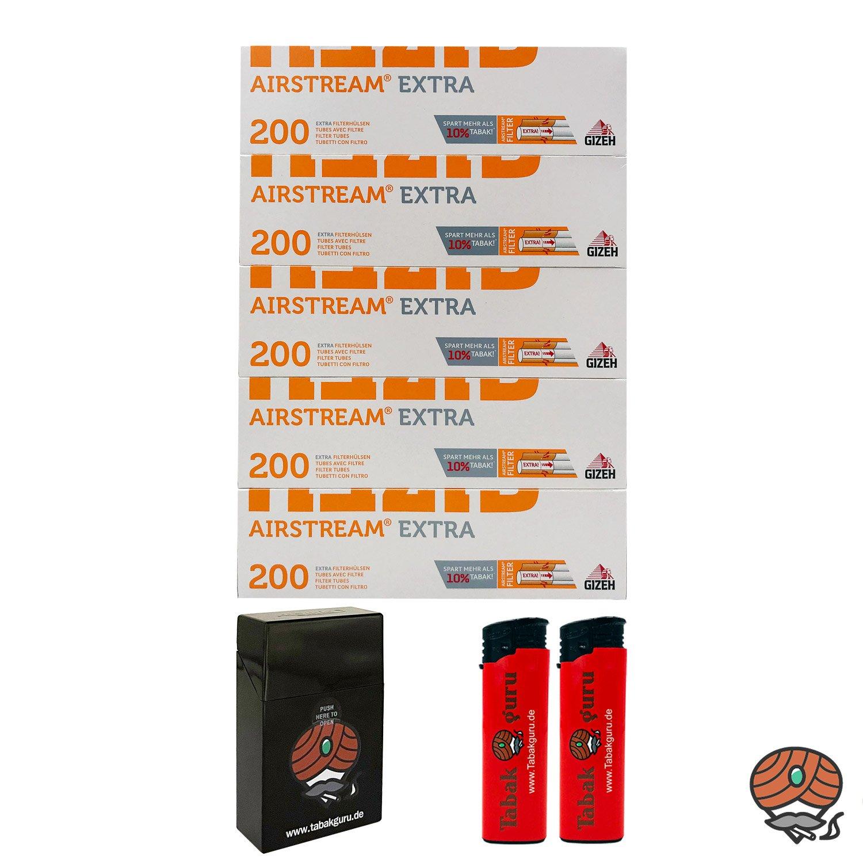 5 Pack Gizeh Airstream Extra Filterhülsen + Zubehörartikel