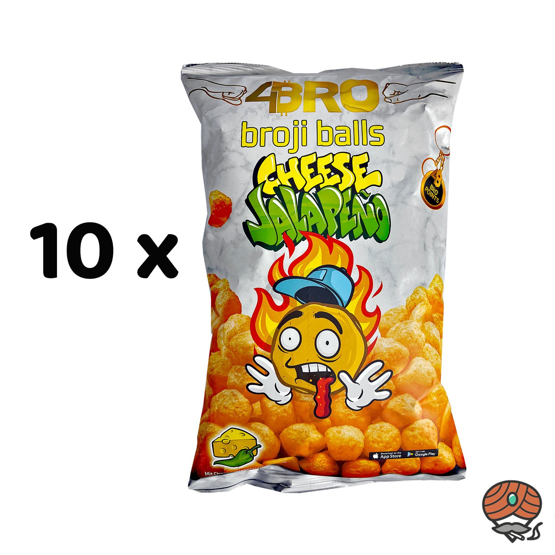10 x 4BRO broji balls Cheese Jalapeno Maisbällchen 75g Beutel