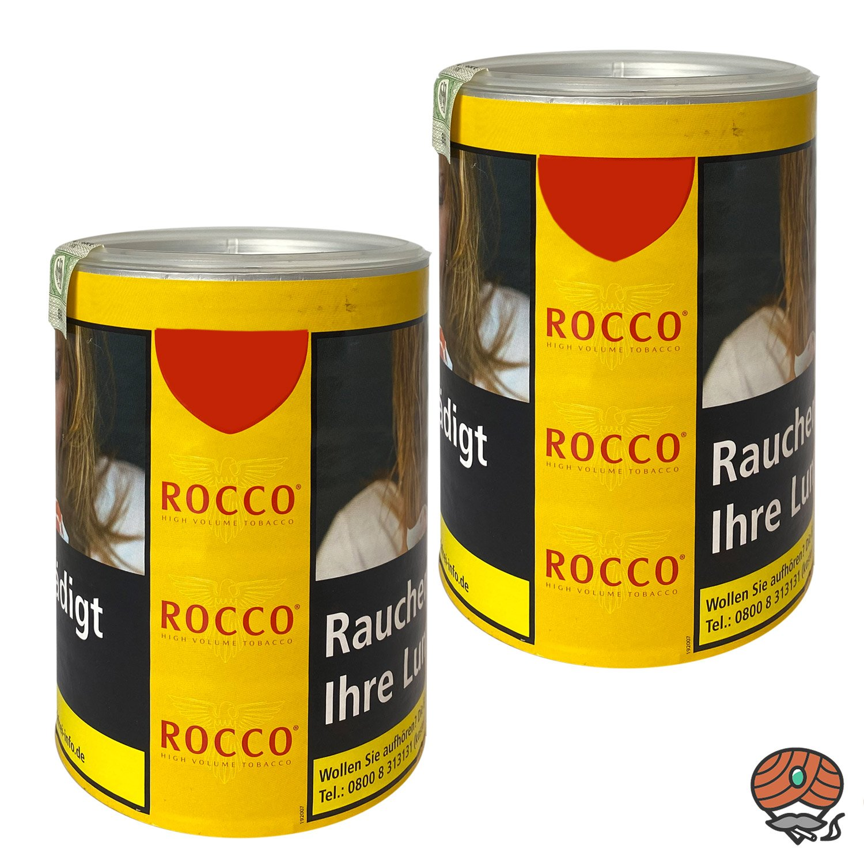2 x ROCCO Tabak / Volumentabak Gelb Dose 70g