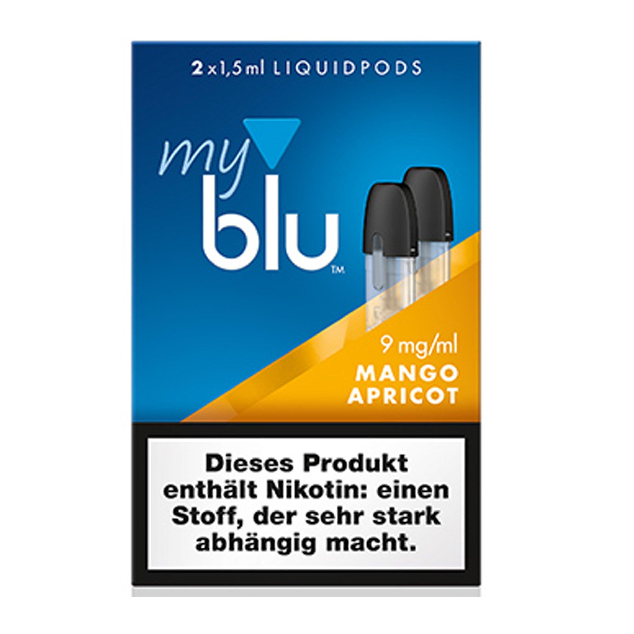 myblu Liquid Pods Mango - Apricot 9 mg/ml Nikotin