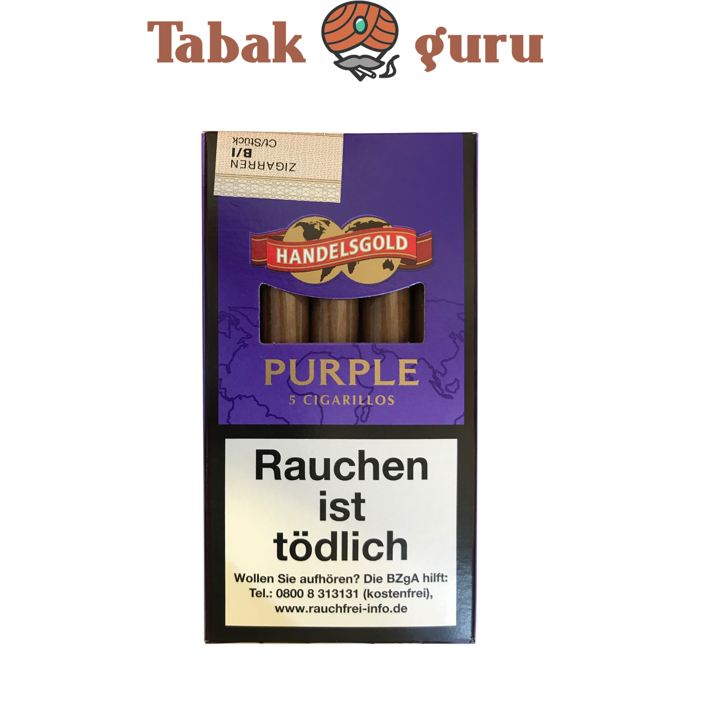 Handelsgold No. 191 Purple Zigarillos, 5 Stück