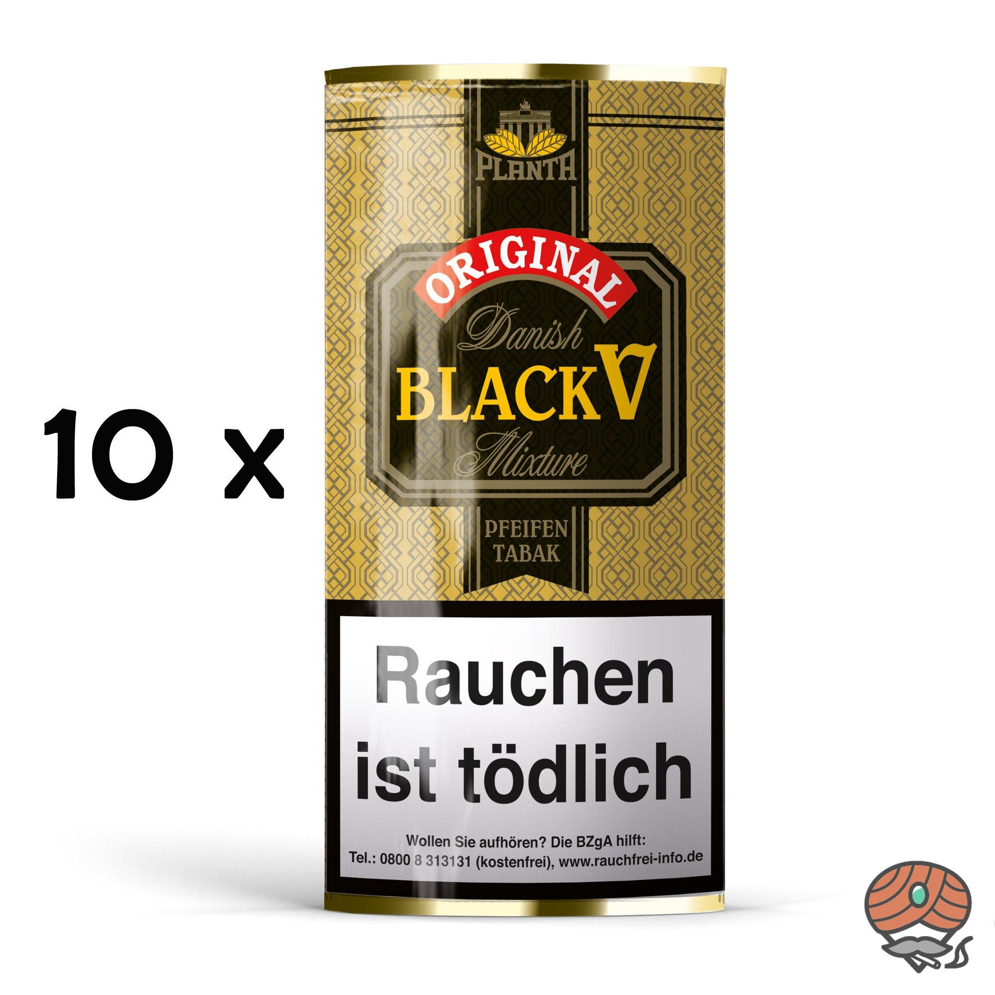 10x Danish Black V Pfeifentabak Vanille Aroma à 40g