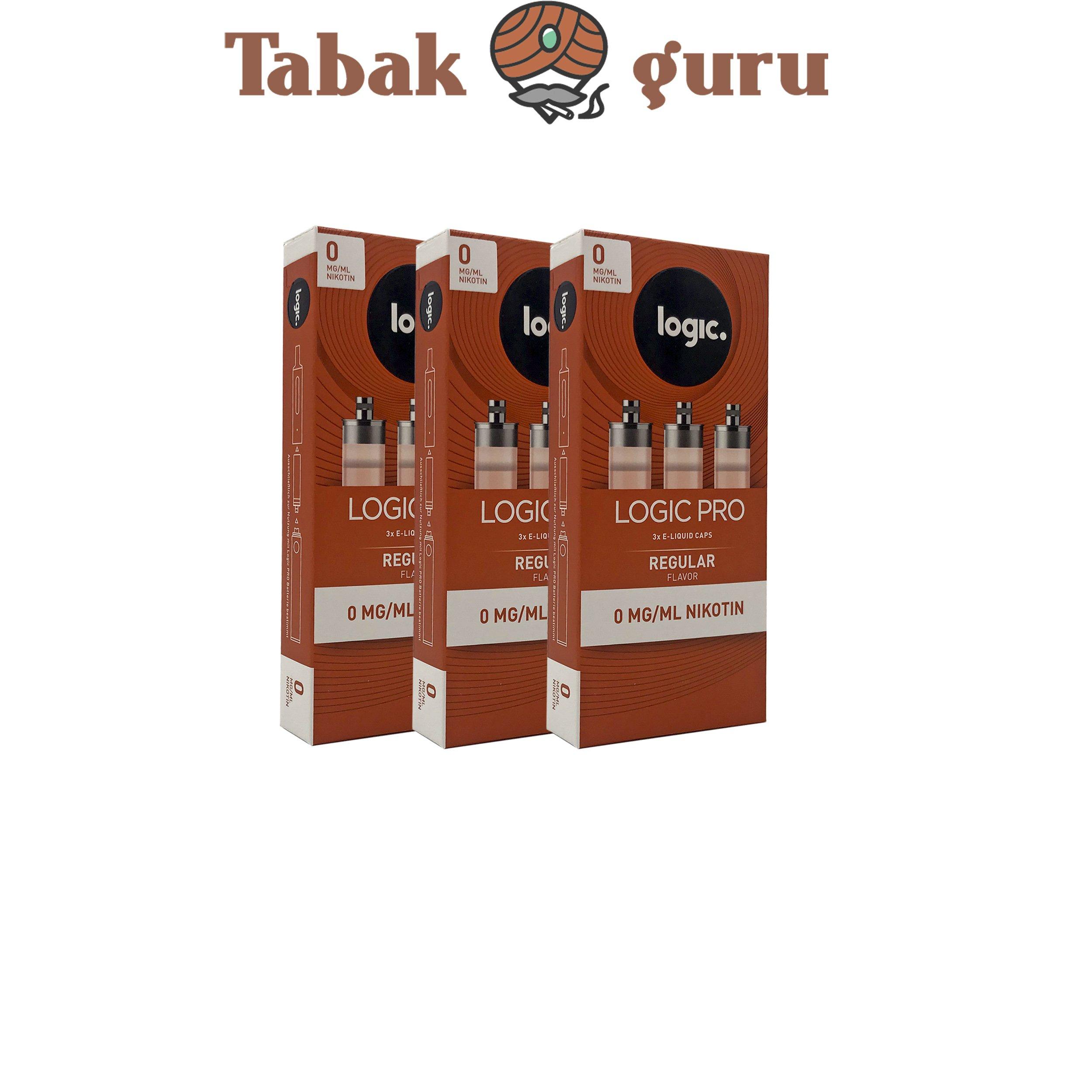 Logic Pro e-Liquid 3x 3er Caps Regular Flavor (Tabakgeschmack) 0 mg/ml