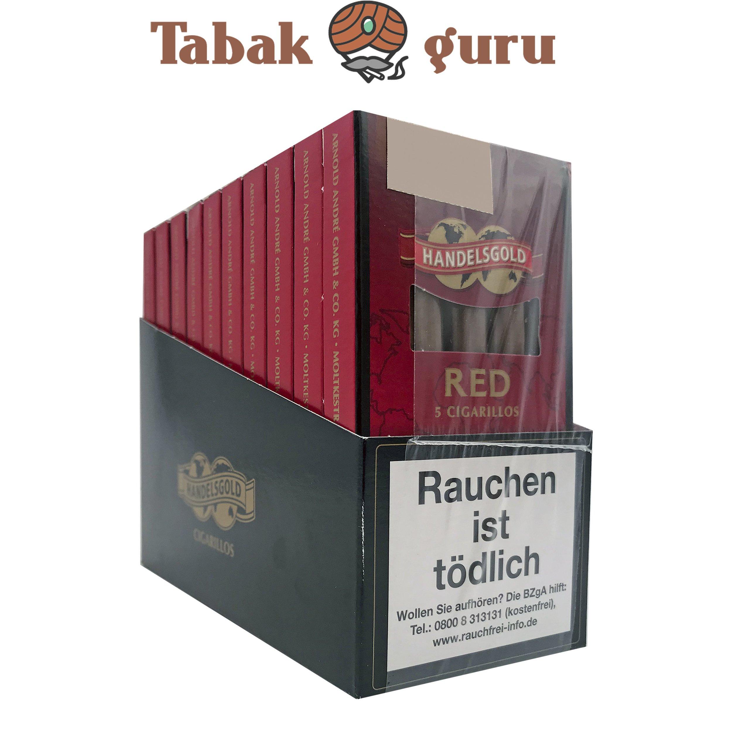 10x Handelsgold No. 213 Red Filterzigarillos à 5 Stück