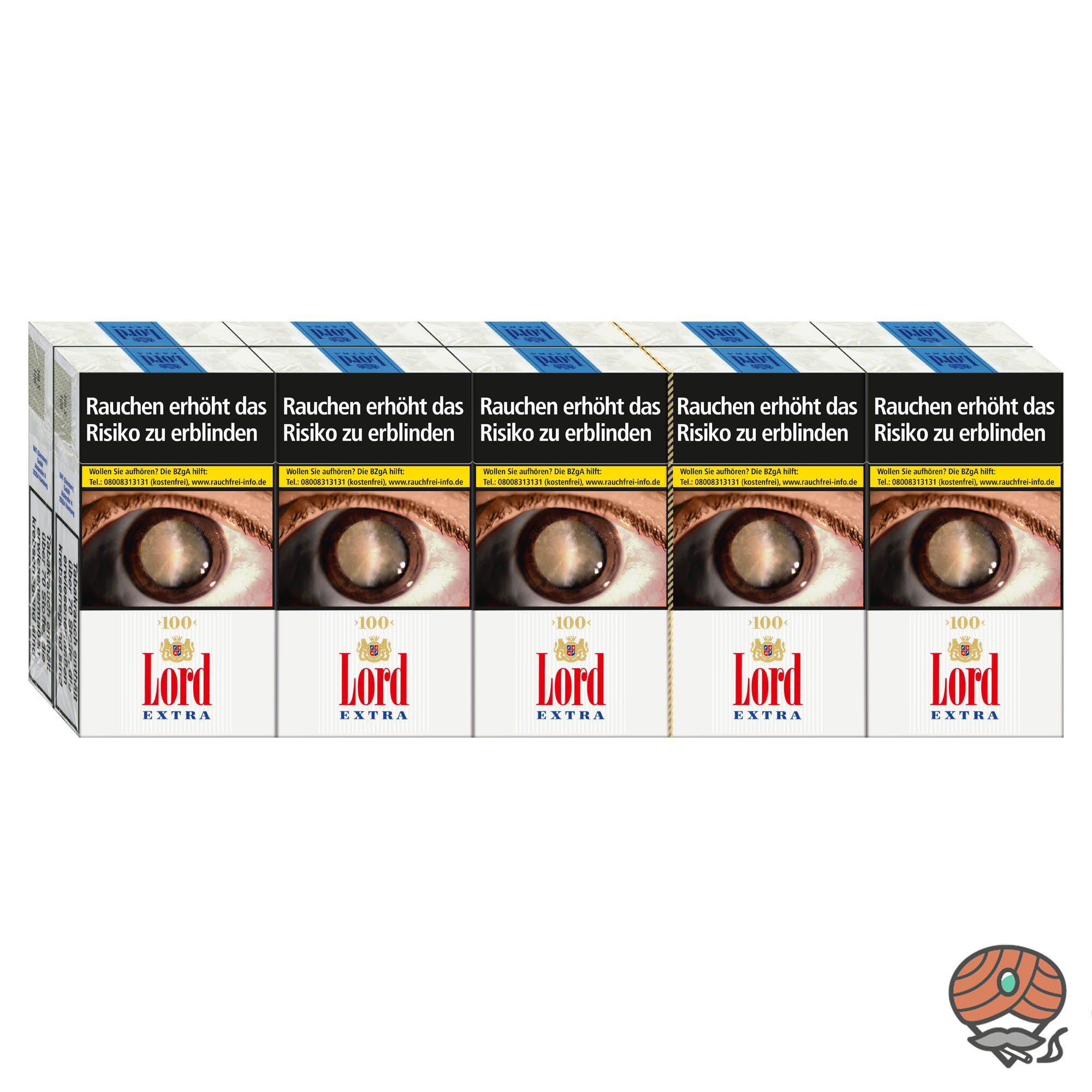 1 Stange Lord Extra 100er / Long Zigaretten 10x20 Stück
