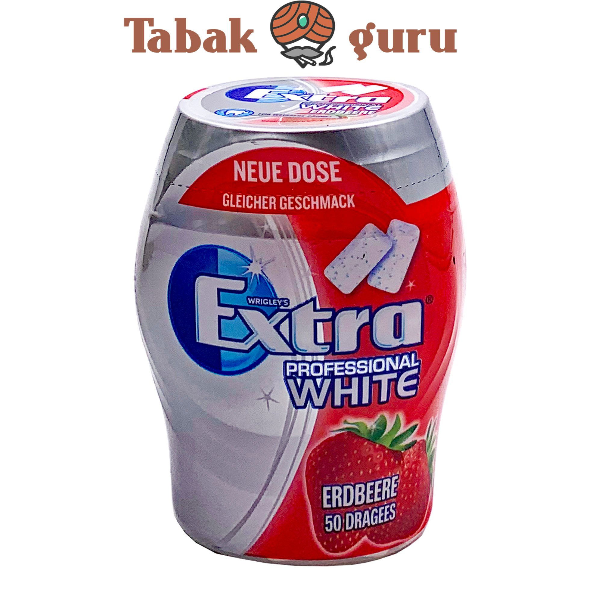 Wrigleys Extra Professional White Erdbeere Geschmack Inhalt 50 Dragees