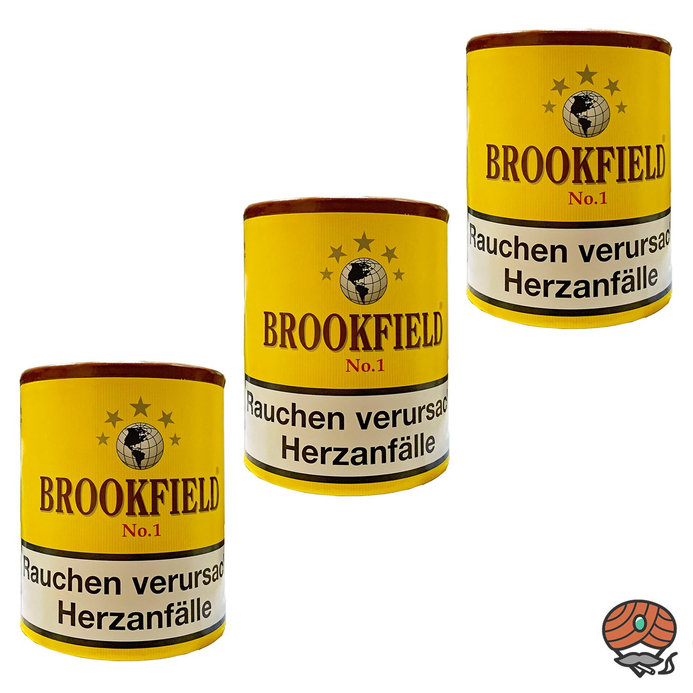 3x Brookfield No. 1 Aromatic Blend Pfeifentabak Dose à 200g