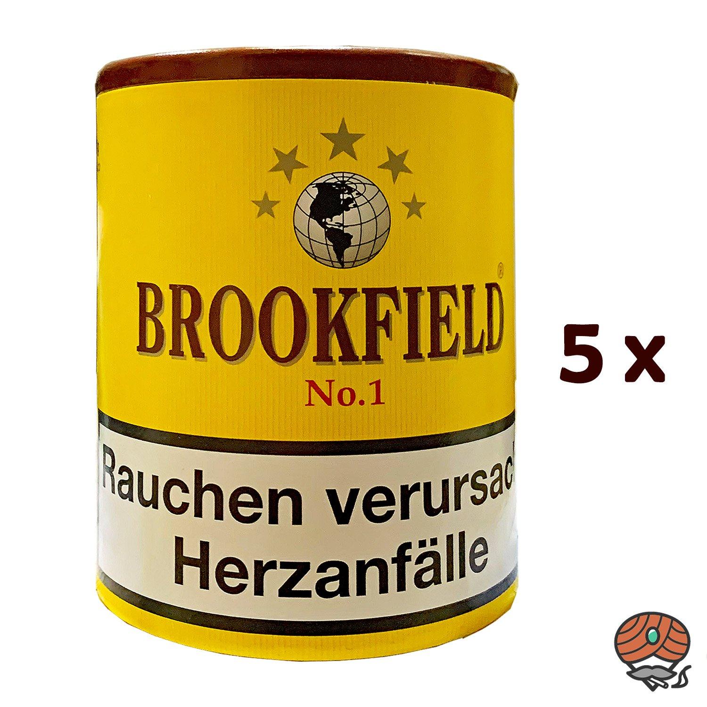 5x Brookfield No. 1 Aromatic Blend Pfeifentabak Dose à 200g