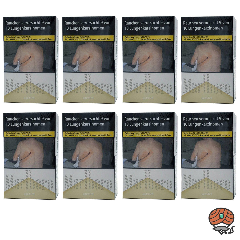 Stange Marlboro Gold Zigaretten XL Schachtel 8x23 Stück