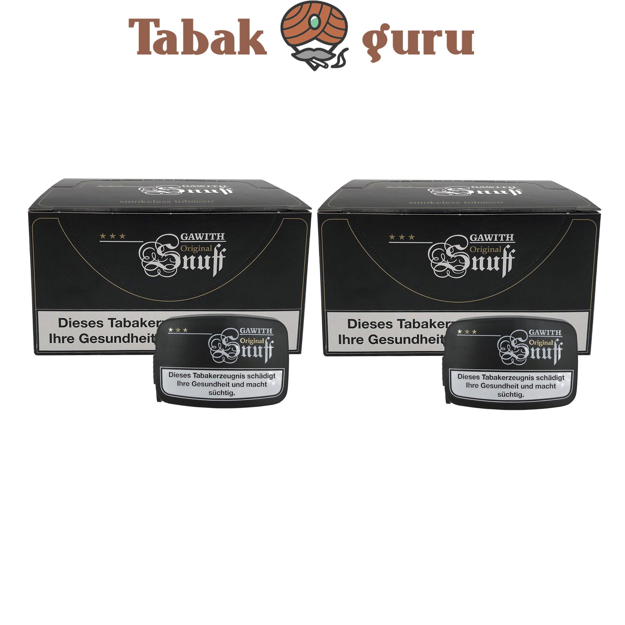 40x Gawith Original Snuff Schnupftabak Dose á10 g