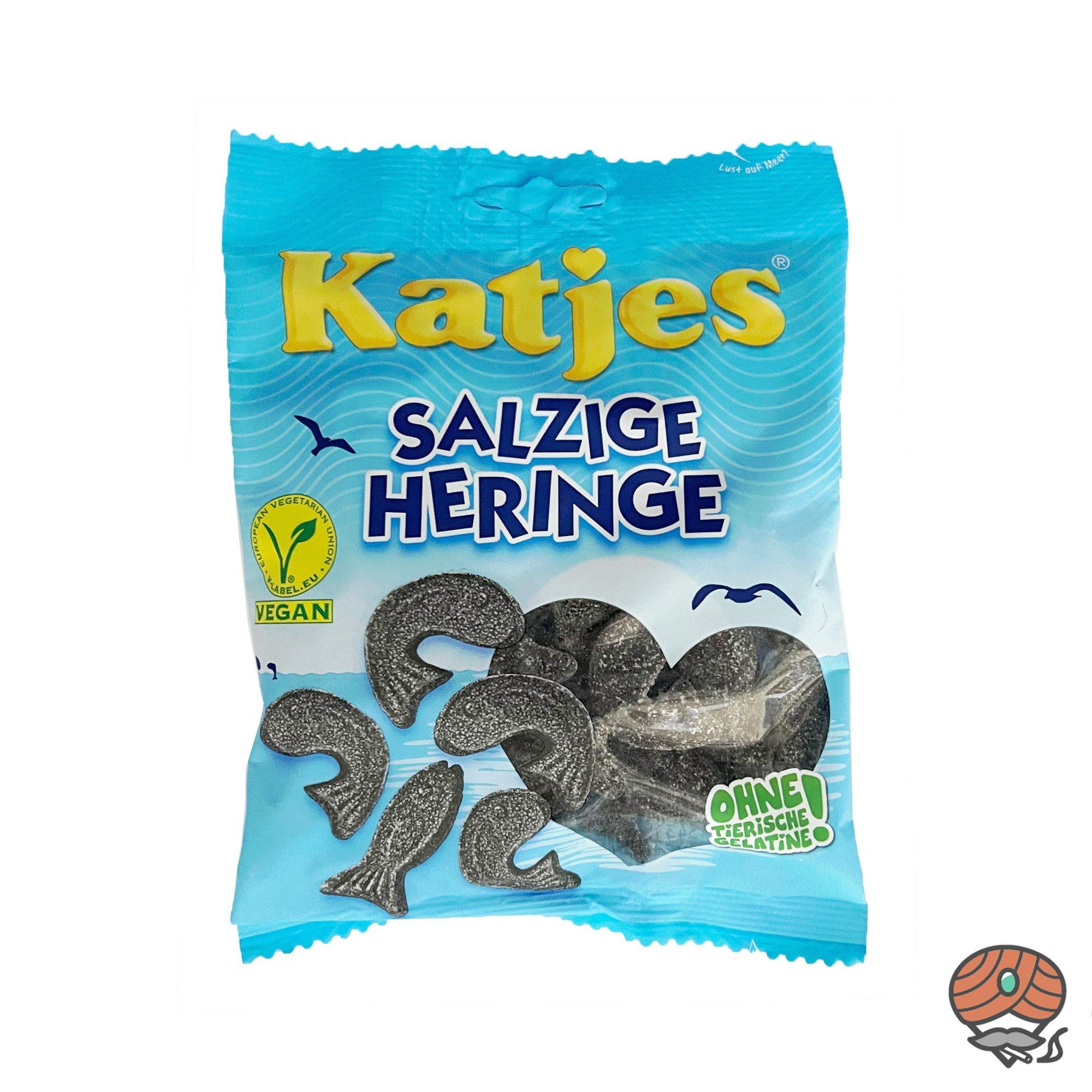 Katjes Salzige Heringe Lakritzfische 200g Beutel