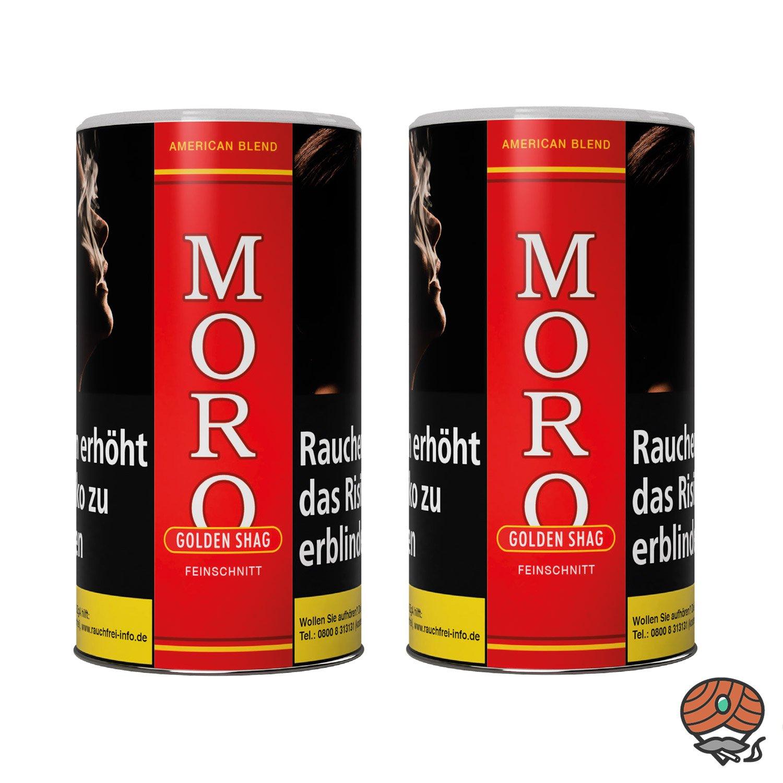 2 x Moro Rot Golden Shag Feinschnitt, Dreh-/ Stopftabak 180 g Dose