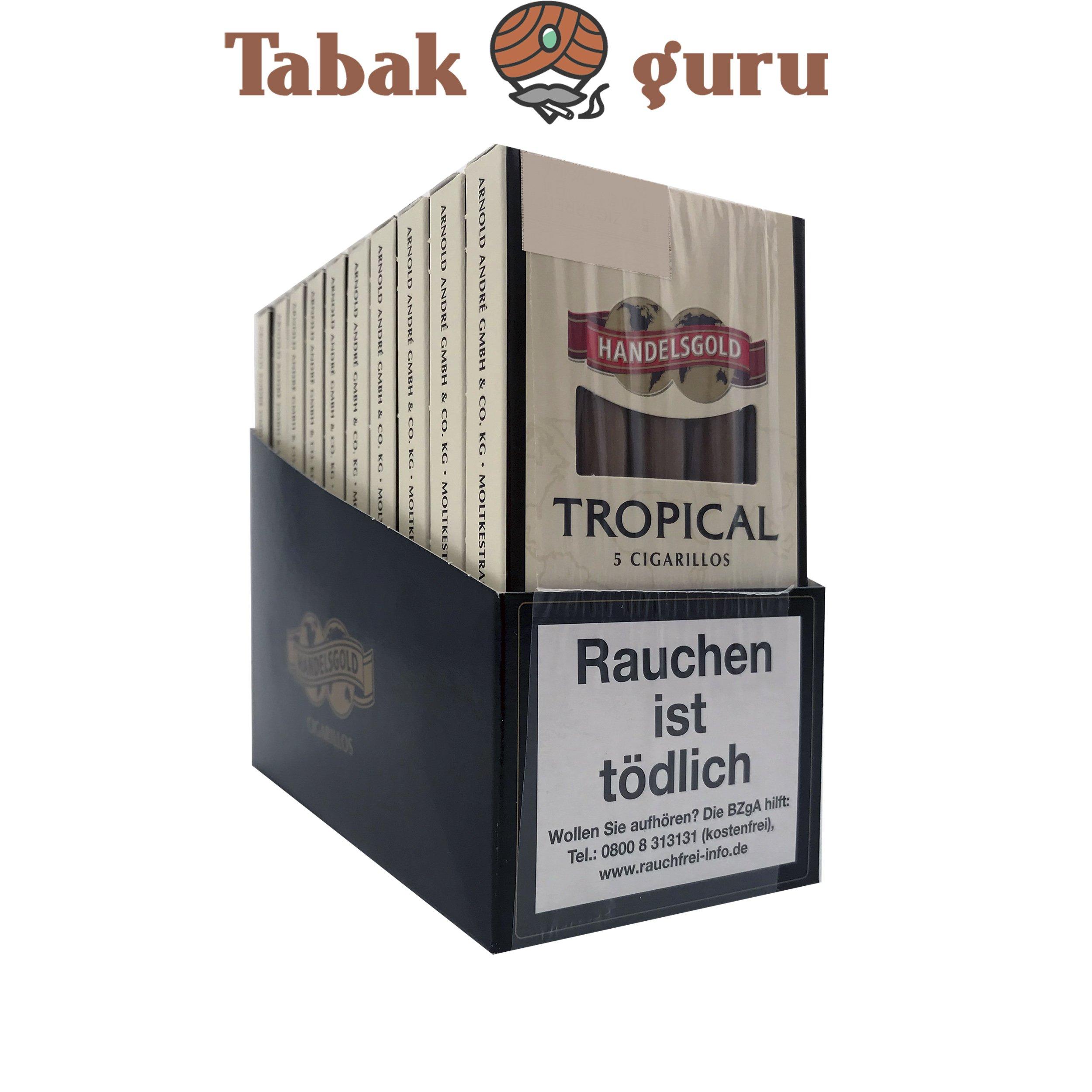 10x Handelsgold No. 190 Tropical Filterzigarillos à 5 Stück