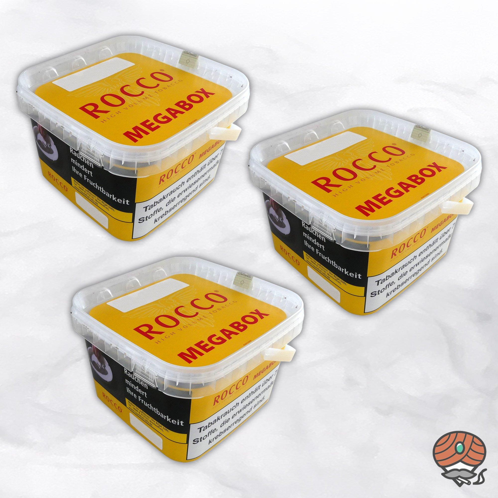 3 x ROCCO Tabak / Volumentabak Gelb Megabox 210 g