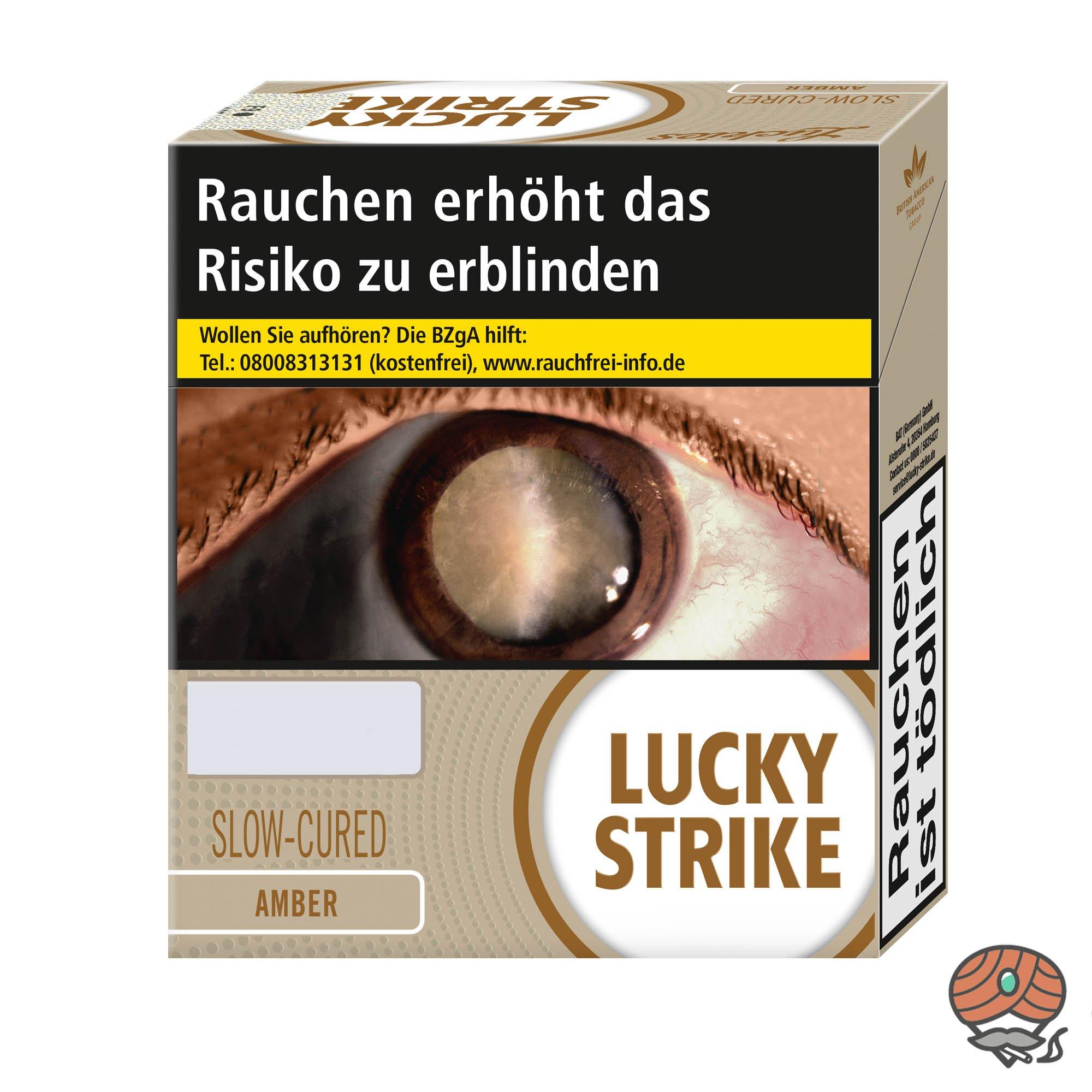 Lucky Strike Amber Zigaretten XXXL Box Inhalt 32 Stück