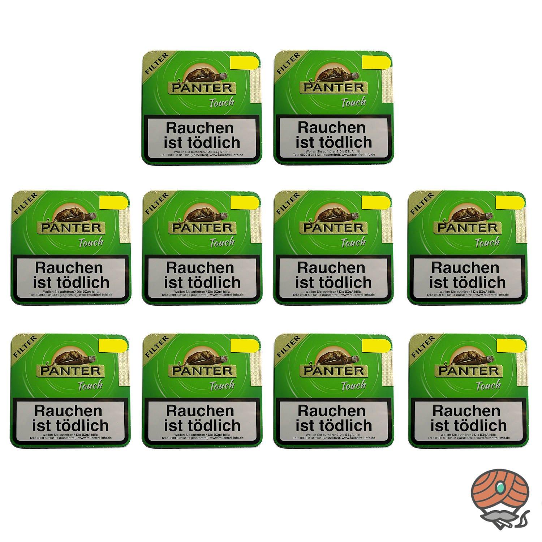 10 Dosen Panter Touch Green Filter Zigarillos á 20 Stück