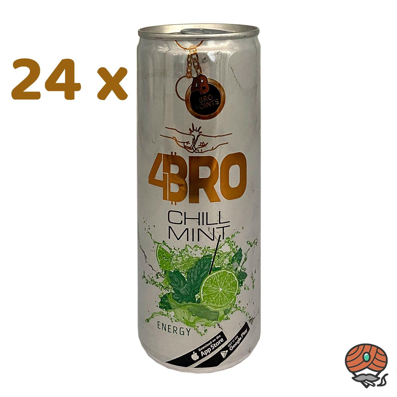 24 x 4BRO Energy Drink CHILL MINT à 250 ml (inkl. Pfand)
