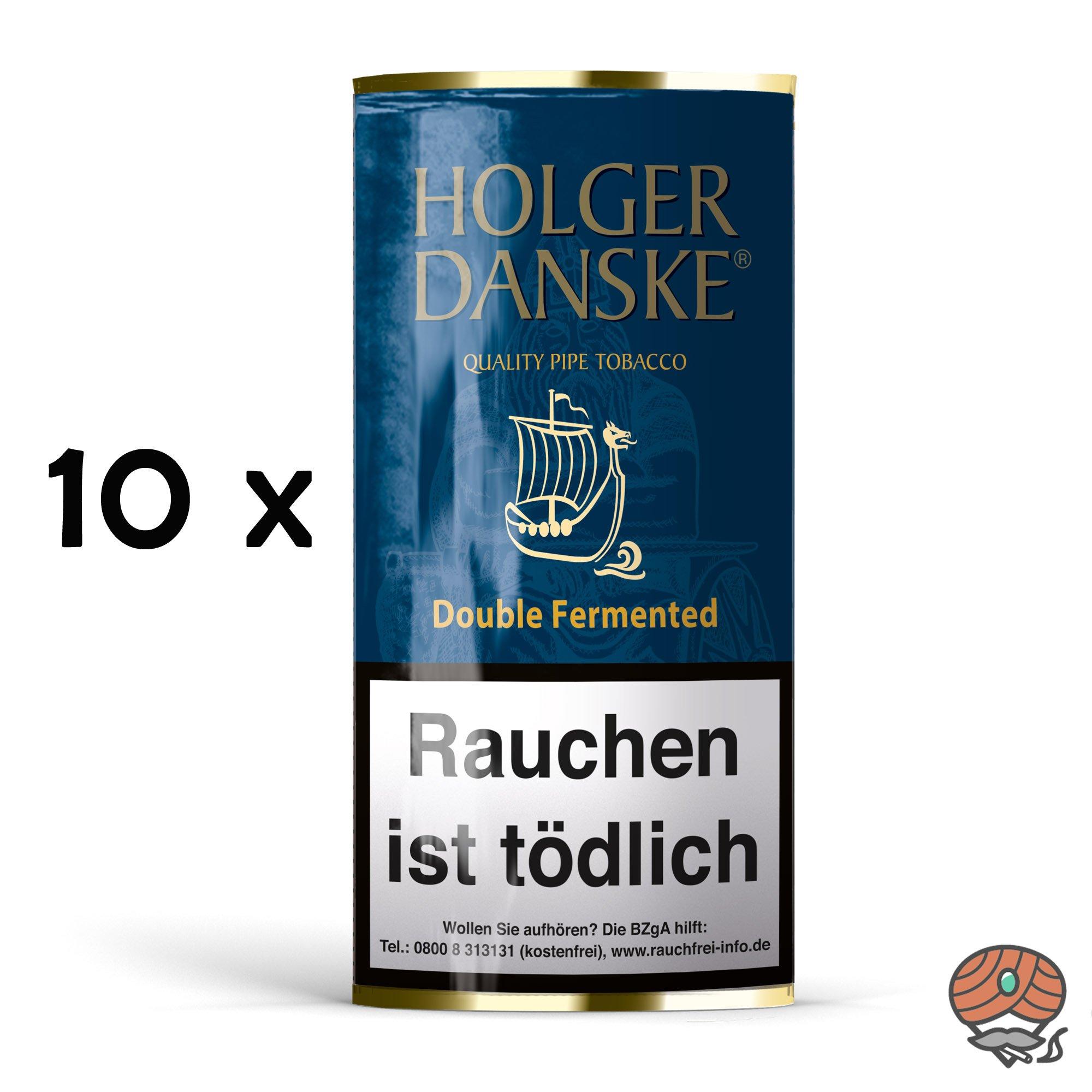 10 x Holger Danske Double Fermented Pfeifentabak à 40g