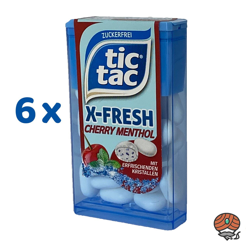 6 x Tic Tac X-Fresh, Cherry Menthol Dragee 16,4 g