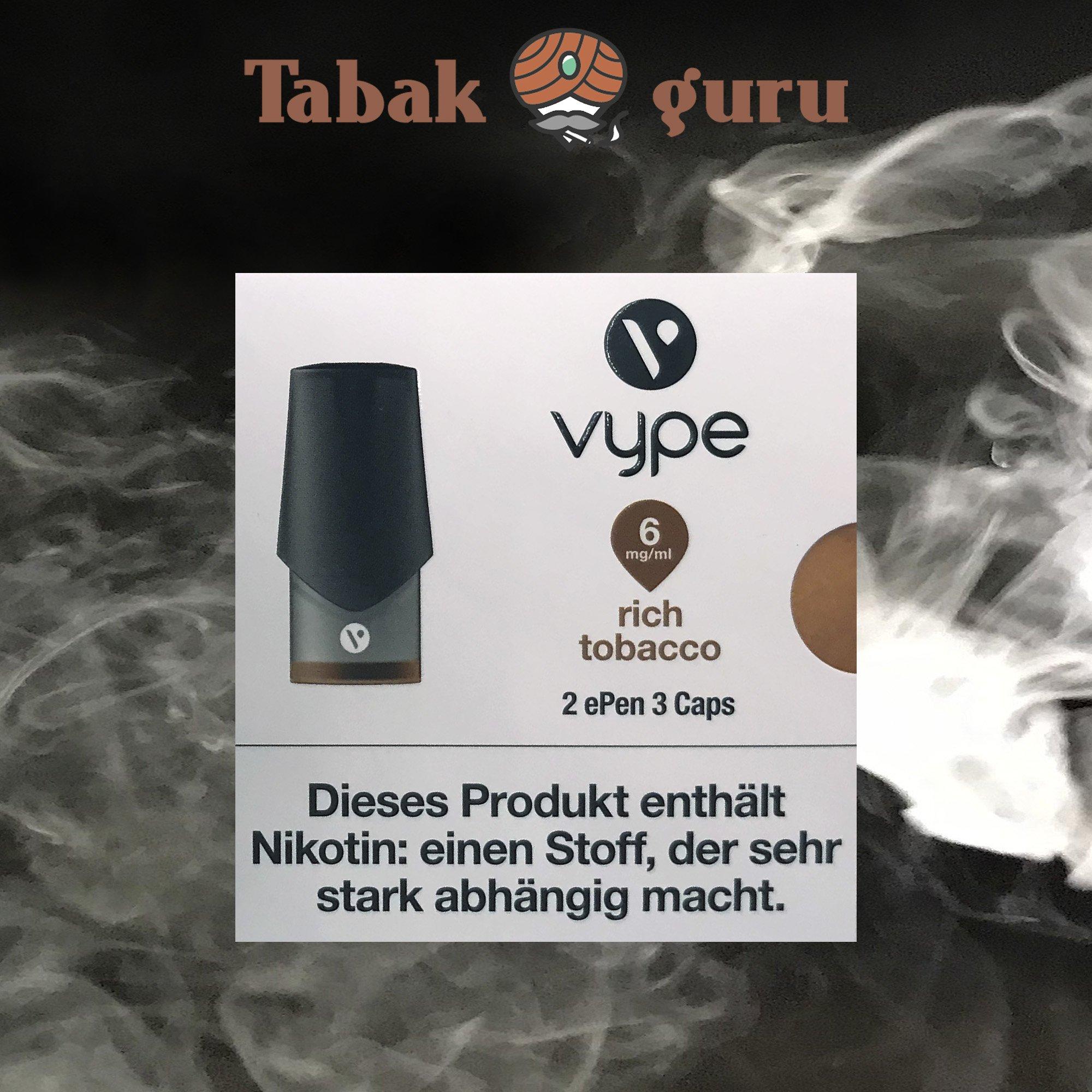 Vype ePen3 Caps Rich Tobacco 6 mg/ml Inhalt 2 Caps